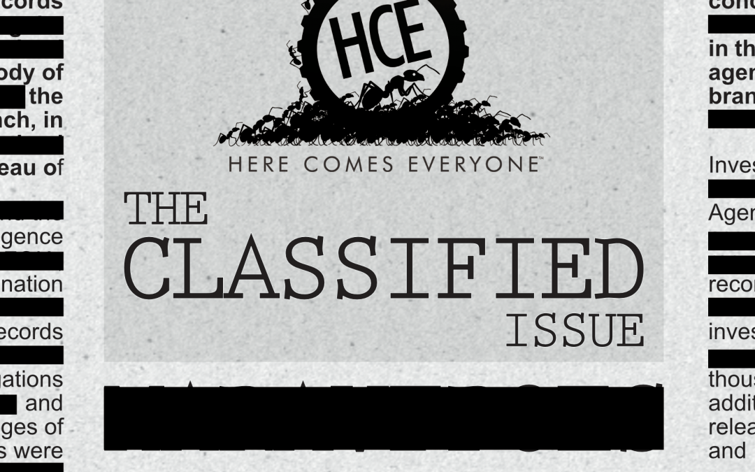 Announcement: Contributors to The Classified Issue